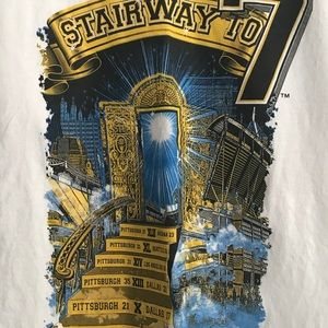 """The Pittsburgh Nation """"Stairway to 7"""" T-shirt"""